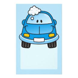 Blue car with bubbles flyer