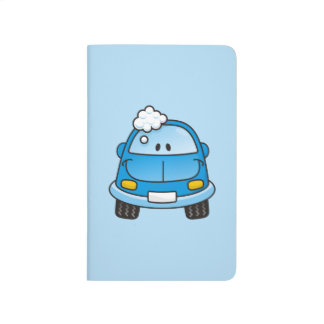 Blue car with bubbles journal