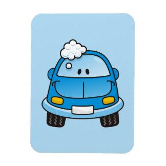 Blue car with bubbles magnet