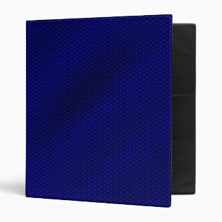 Blue Carbon Fiber 3 Ring Binder