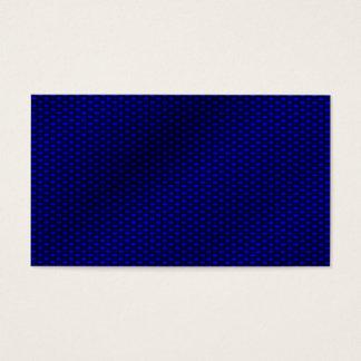 Blue Carbon Fiber Business Card
