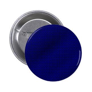 Blue Carbon Fiber Button
