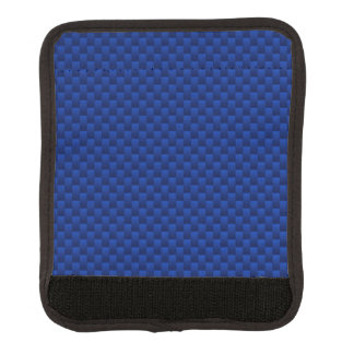 Blue Carbon Fiber Like Print Background Luggage Handle Wrap