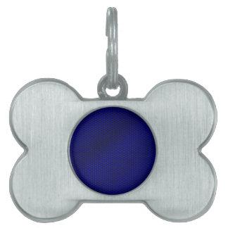 Blue Carbon Fiber Pet Tag