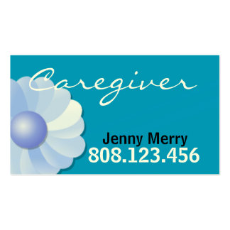 Blue Caregiver Business Card template