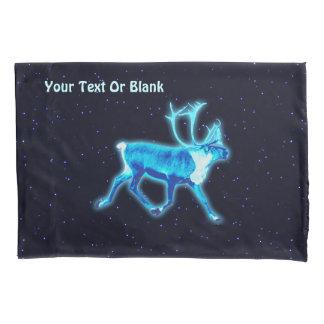 Blue Caribou Pillow Case