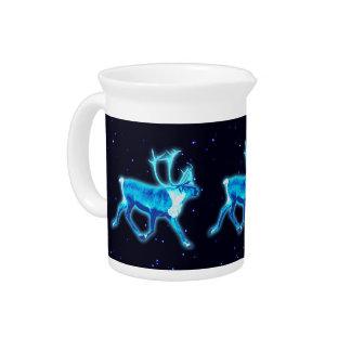 Blue Caribou (Reindeer) Drink Pitcher