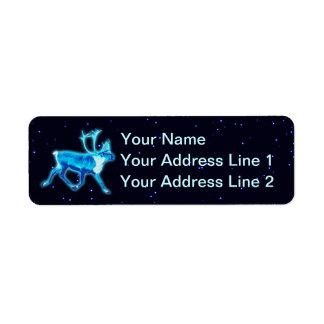 Blue Caribou (Reindeer) Label