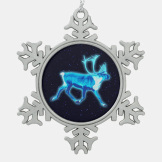 Blue Caribou (Reindeer) Ornament