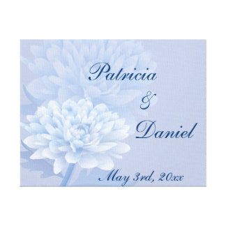 Blue Carnations Canvas Print