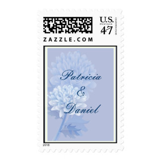 Blue Carnations Postage