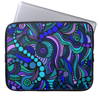 Blue Carnival Close Up Laptop Sleeve
