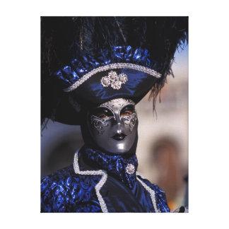 Blue Carnival Costume Canvas Print