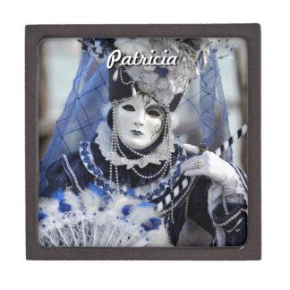 Blue Carnival Costume Jewelry Box