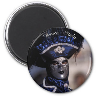 Blue Carnival Costume - Venice, Italy Magnet