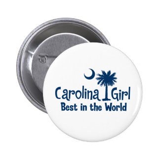 Blue Carolina Girl Best in the World 2 Inch Round Button