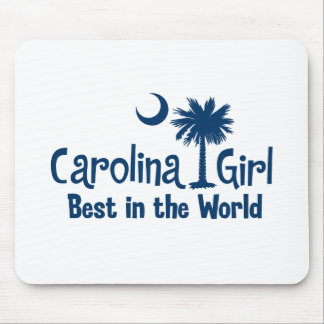 Blue Carolina Girl Best in the World Mouse Pad