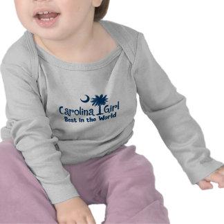 Blue Carolina Girl Best in the World T-shirts