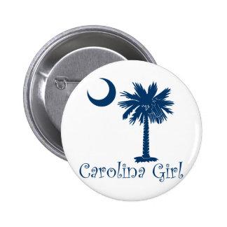 Blue Carolina Girl Palmetto 2 Inch Round Button