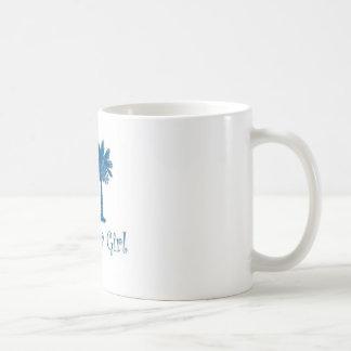 Blue Carolina Girl with white background Coffee Mug