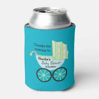 Blue Carriage Boy Baby Shower Can Cooler