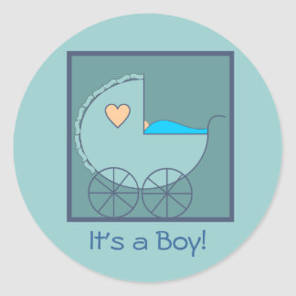 Blue Carriage Boy Stickers