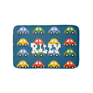Blue cars bathroom rug bath mats