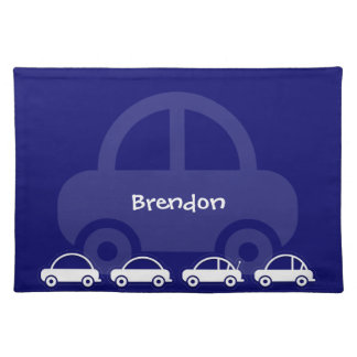 Blue Cars Custom Table Placemats