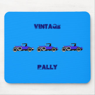 blue cars in sillouette mouse pad