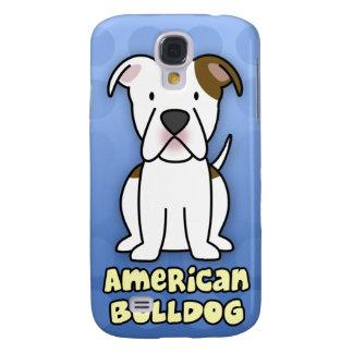 Blue Cartoon American Bulldog Samsung Galaxy S4 Covers