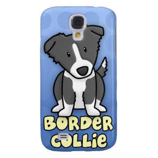 Blue Cartoon Border Collie Samsung Galaxy S4 Case