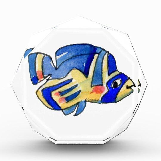 Blue Cartoon Butterfly Fish Acrylic Award