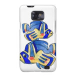Blue Cartoon Butterfly Fish Galaxy S2 Cases