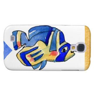 Blue Cartoon Butterfly Fish Galaxy S4 Case