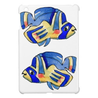 Blue Cartoon Butterfly Fish iPad Mini Covers