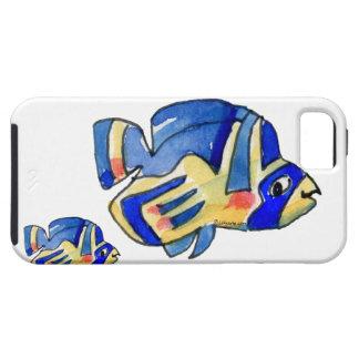 Blue Cartoon Butterfly Fish iPhone SE/5/5s Case