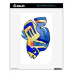 Blue Cartoon Butterfly Fish NOOK Color Skins