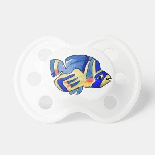 Blue Cartoon Butterfly Fish Pacifier
