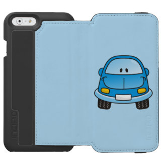 Blue cartoon car iPhone 6/6s wallet case