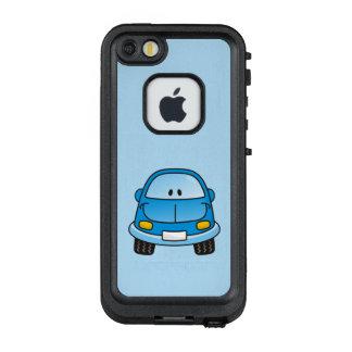 Blue cartoon car LifeProof FRĒ iPhone SE/5/5s case
