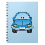 Blue cartoon car note book