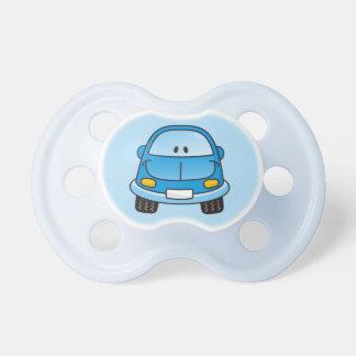 Blue cartoon car pacifier
