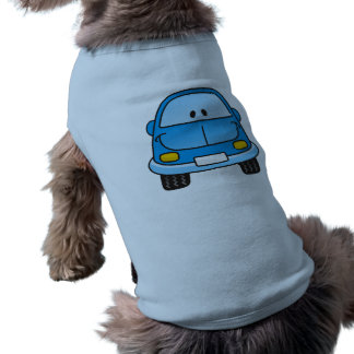 Blue cartoon car shirt