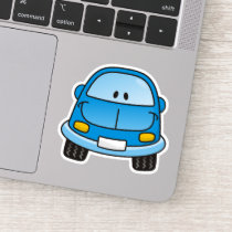 Blue Cartoon Car Sticker