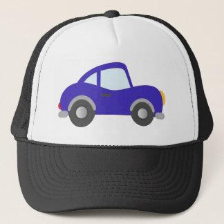 Blue Cartoon Coupe Car Trucker Hat