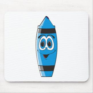 Blue Cartoon Crayon Mouse Pad