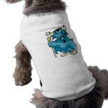 Blue Cartoon Devil Dog T-shirt