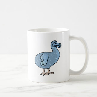 Blue Cartoon Dodo Bird Coffee Mug