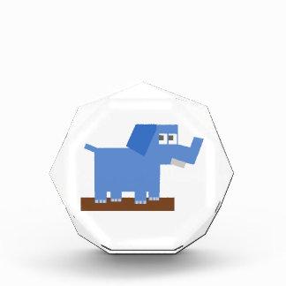 Blue Cartoon Elephant Made from Squares Awards