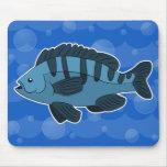Blue Cartoon Fish Mousepad